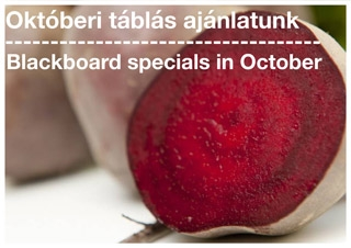 Blackboard specials in October