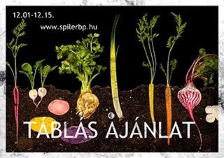 A Spíler táblás ajánlata december 1 - 15. között