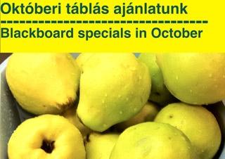 Blackboard specials in October